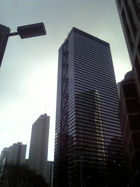 冬の超高層ビル